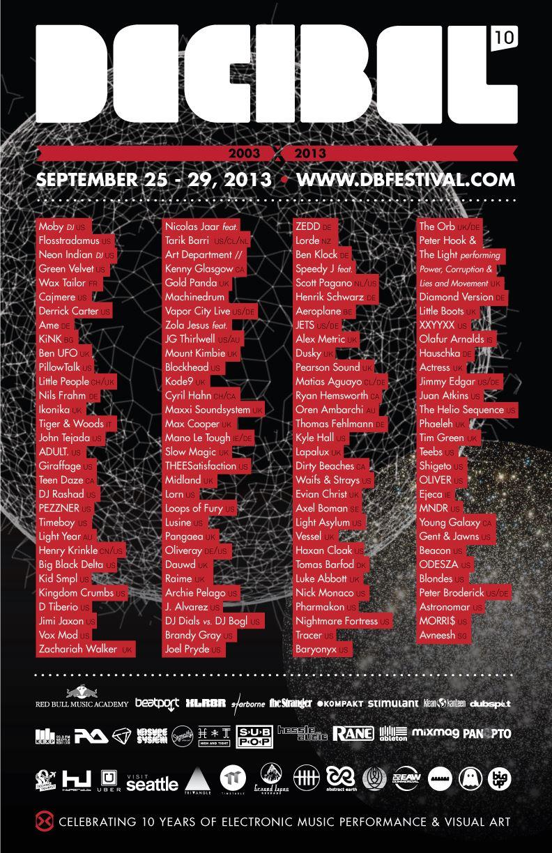 Decibel 2013 - FinalLineup