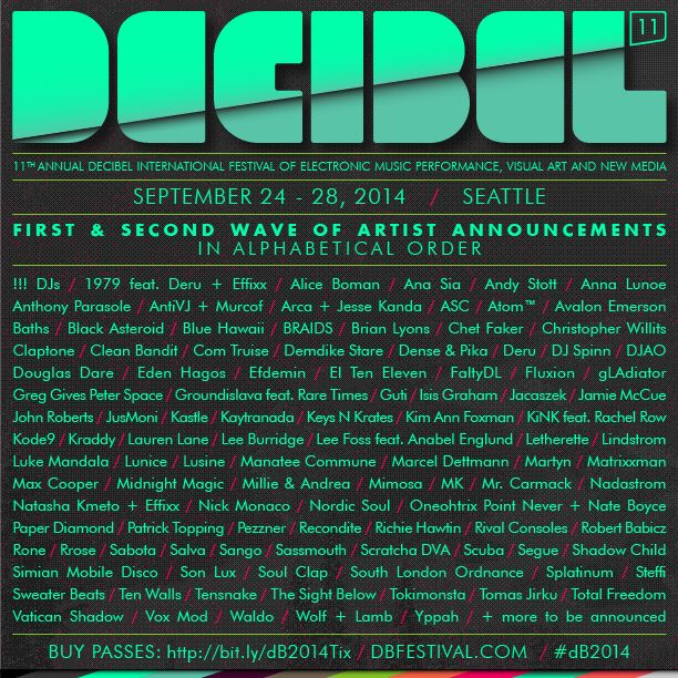 decibel dB2014 - full lineup