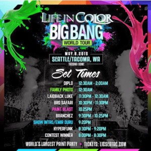 LIC seattle tacoma - set times