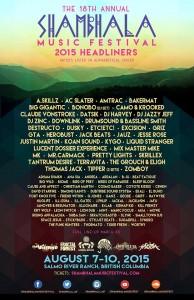 Shambhala 2015 full lineup