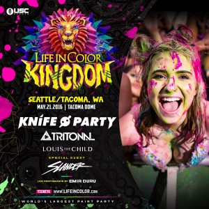 Knife Party, Tritonal & Slander/LIFE IN COLOR (Paint Party) at the Tacoma Dome @ Tacoma Dome